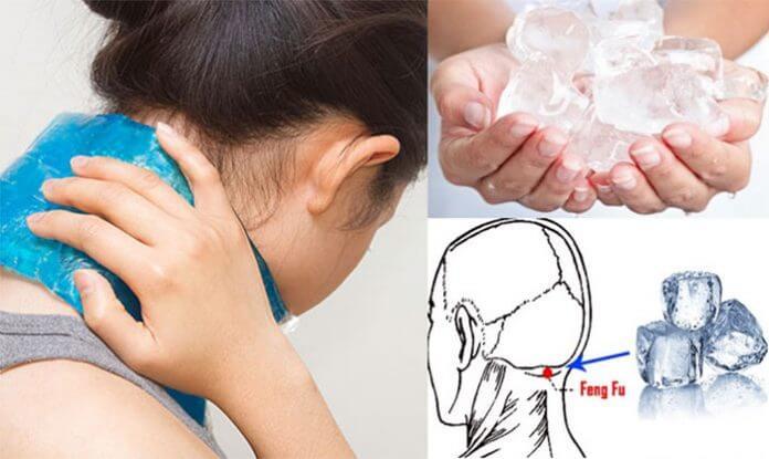 Chườm lạnh chữa đau vai gáy cổ