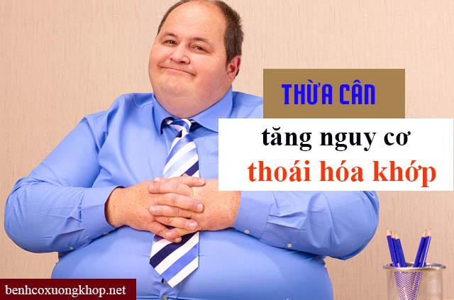 Nguyên nhân gây thoái hóa khớp do béo phì
