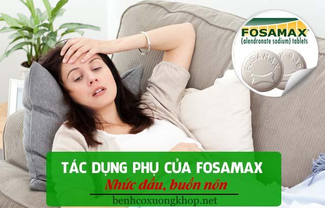 tác dụng phụ của Fosamax