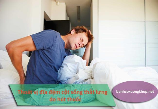 Nguyên nhân gây thoát vị đĩa đệm cột sống thắt lưng