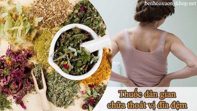 bài thuốc dân gian chữa bệnh thoát vị đĩa đệm