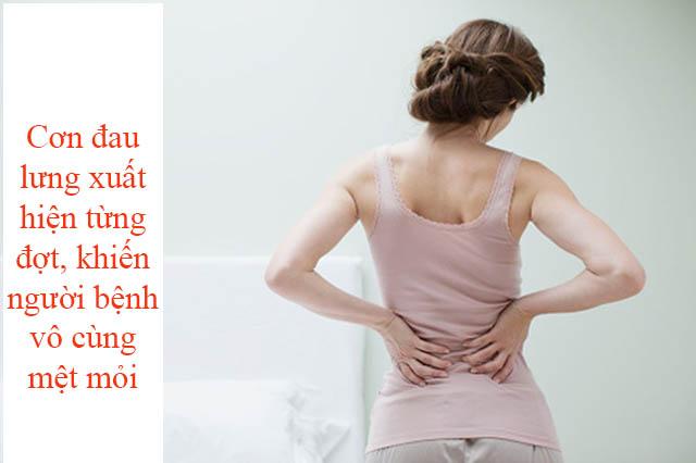 Người bệnh mệt mỏi vì những cơn đau lưng đột ngột