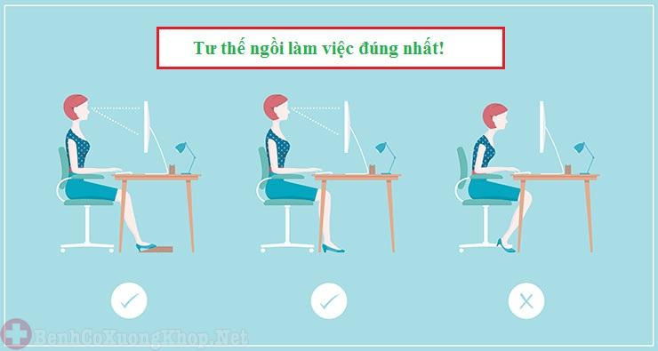 ngồi làm việc đúng tư thế