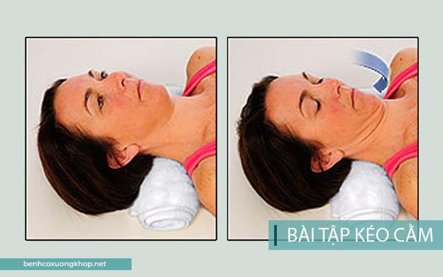 Bài tập chữa thoát vị đĩa đệm cổ: kéo cằm