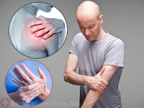Đau mỏi vai gáy tê bì chân tay là bệnh gì