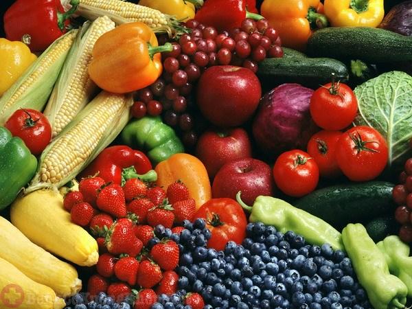 Tăng cường các loại rau xanh và trái cây