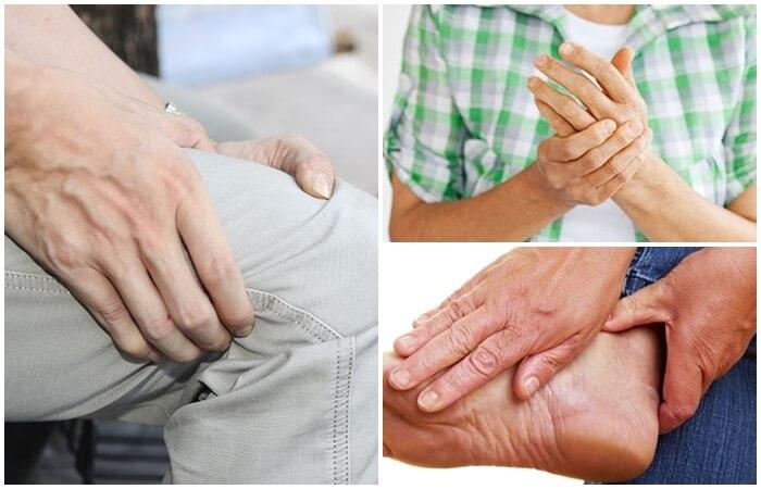 Bệnh viêm khớp ở nhiều vị trí khác nhau