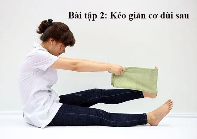 Bài tập kéo giãn cơ đùi sau chữa đau dây thần kinh tọa