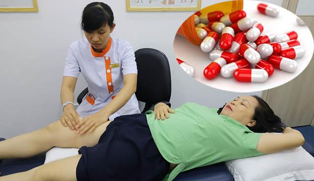 Điều trị tràn dịch khớp gối bằng theo Tây y