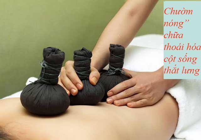 Chườm nóng chữa bệnh thoái hóa cột sống thắt lưng