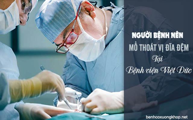 mổ thoát vị đĩa đệm tại bệnh viện Việt Đức