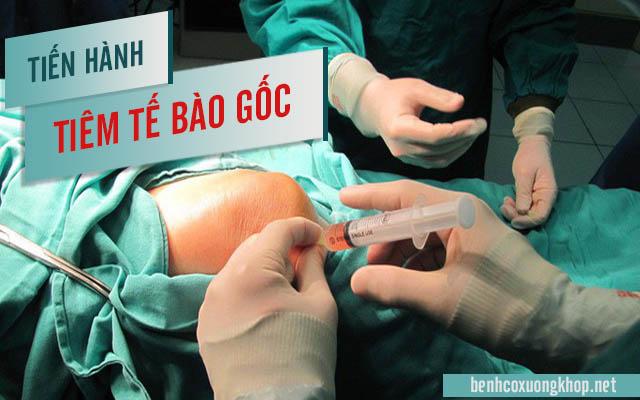tiêm tế bào gốc chữa thoái hóa khớp