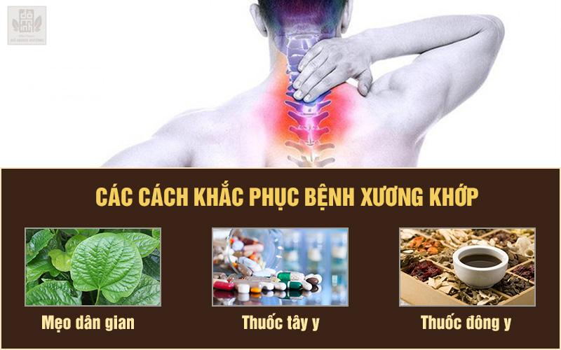 Kiểm soát bệnh xương khớp bằng tây y, dân gian, đông y
