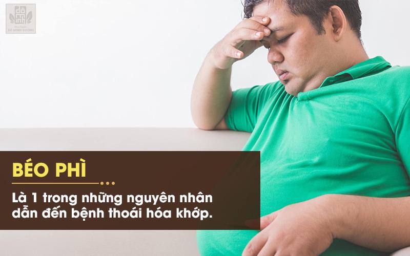 Trọng lượng cơ thể quá mức gây áp lực cho các khớp dễ gây thoái hóa