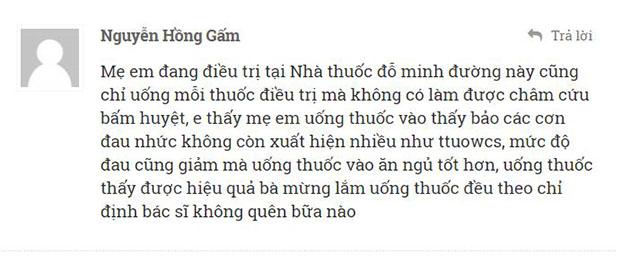 Phản hồi của bạn Nguyễn Hồng Gấm về tình hình sức khỏe của mẹ mình.