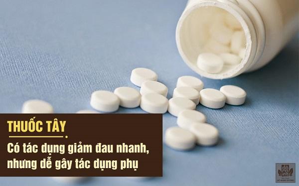 Thuốc tây y chữa trị thoái hóa khớp cho hiệu quả nhanh nhưng dễ gây tác dụng phụ