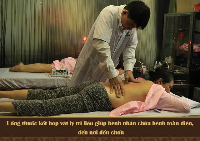 Uống thuốc kết hợp vật ký trị liệu điều trị thoát vị đĩa đệm tại Đỗ Minh Đường