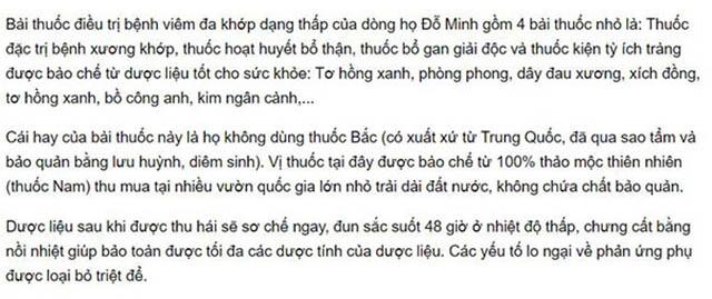 Bài thuốc nam Đỗ Minh Đường được nhắc đến trên 24h