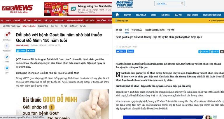 Báo chí nói gì về bài thuốc Gout Đỗ Minh